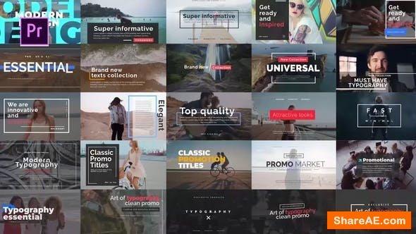 Videohive Essential Title V.2 - Premiere Pro