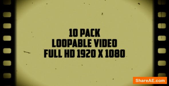 Videohive Old Film Frames Overlays (10 Pack) - Motion Graphics