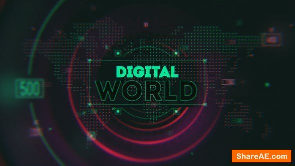 Videohive Digital World Opener