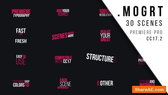 Videohive Premiere Typography | MOGRT - Premiere Pro