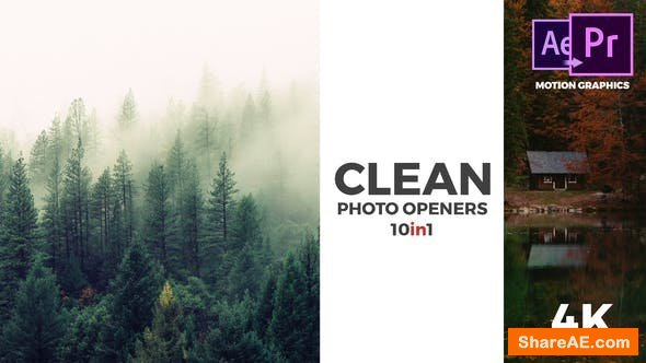 Videohive Clean Photo Openers - Logo Reveal - Premiere Pro