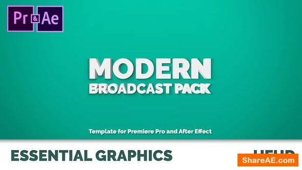 Videohive Modern Broadcast Pack | Essential Graphics | Mogrt - Premiere Pro