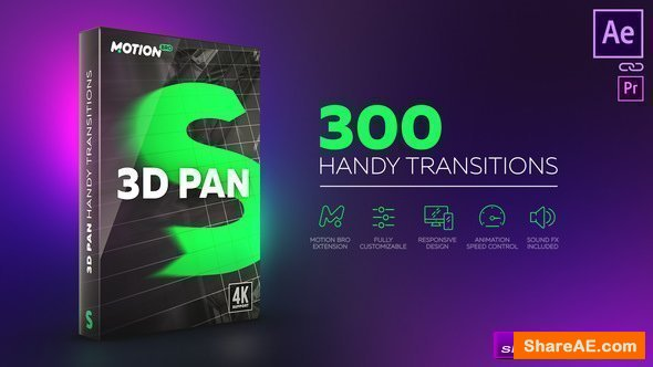 Videohive 3D Transitions