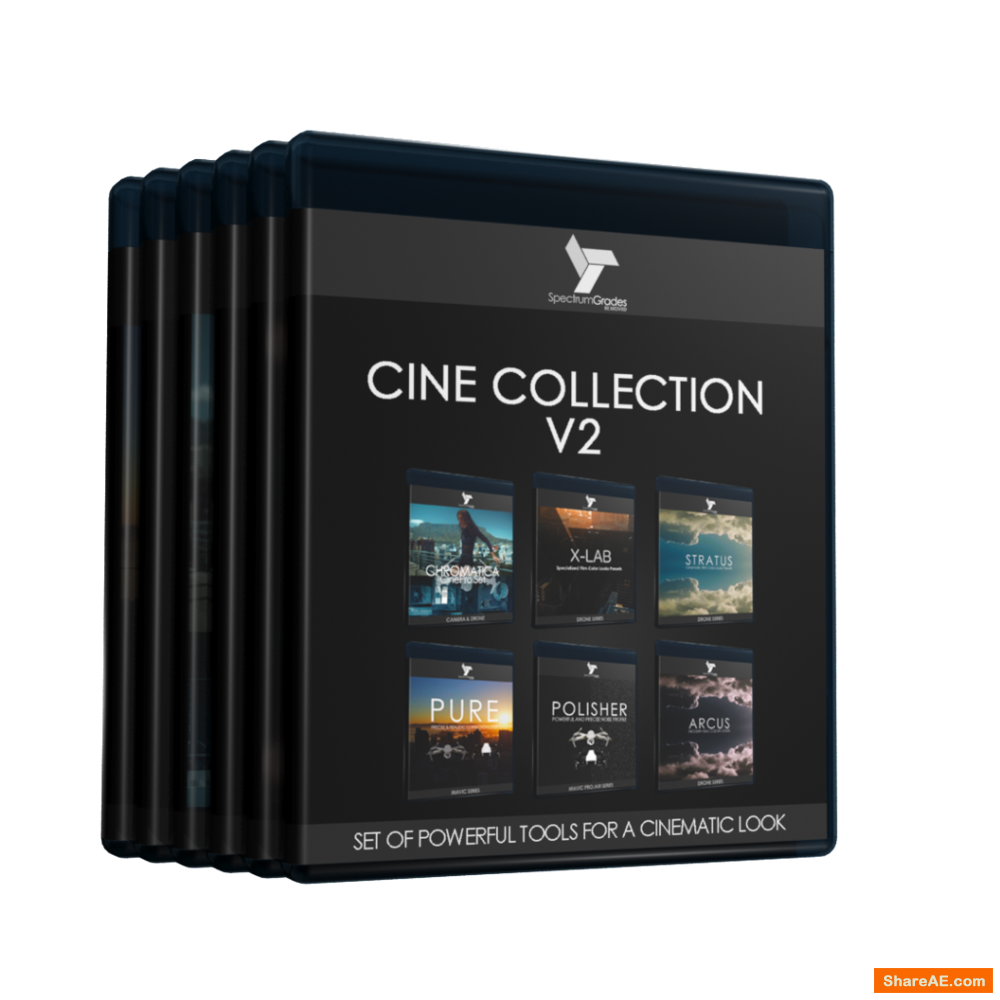 Complete Cine Collection Presets LUTs : PURE, Chromatica, X-LAB, Stratus, Arcus & Polisher V2 - Spectrumgrades