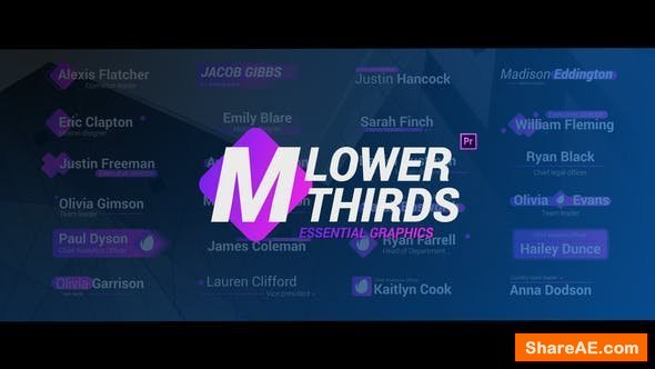 Videohive Modern Lower Thirds - Essential Graphics - Premiere Pro