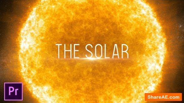 Videohive The Solar - Cinematic Trailer - Premiere Pro