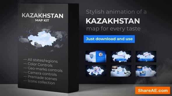 Videohive Kazakhstan Map - Republic of Kazakhstan Map Kit