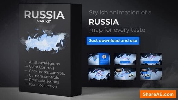 Videohive Russia Map - Russian Federation Map Kit
