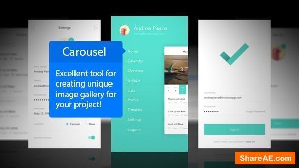 Videohive Carousel Mobile App Mockup