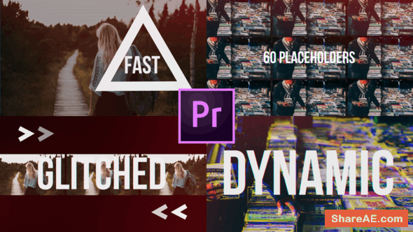 Videohive Fast Glitch Slideshow // Dynamic Opener - Premiere Pro