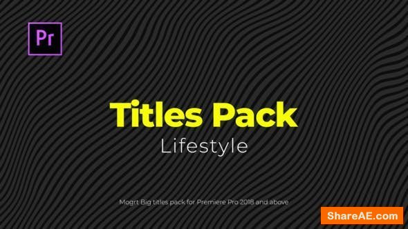 Videohive Lifestyle Titles Pack - Premiere Pro