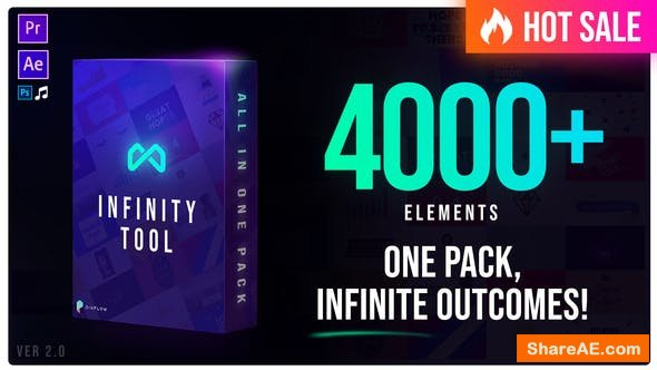 Videohive Infinity Tool - The Biggest Pack for Video Creators v2.0[4000+ Elements]