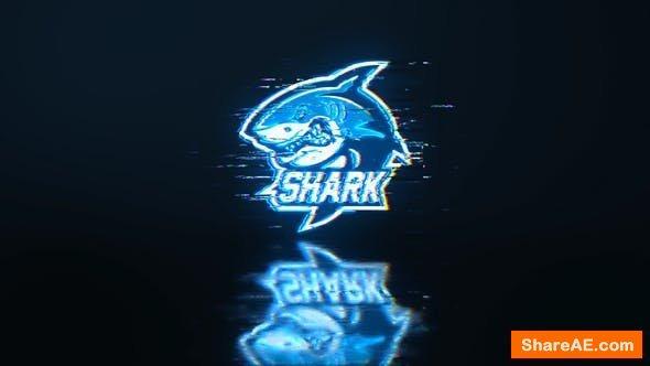 Videohive Neon Glitch Logo 24649839