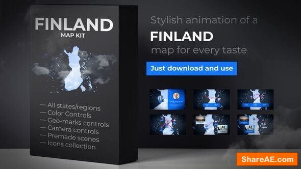 Videohive Finland Map - Republic of Finland Map Kit