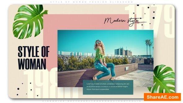 Videohive Style of Woman Fashion Slideshow