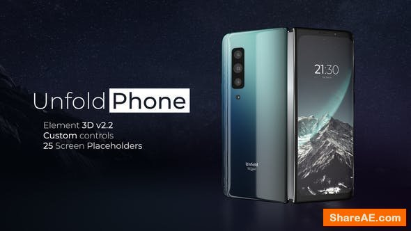 Videohive Unfold Phone - A Foldable Phone Promo