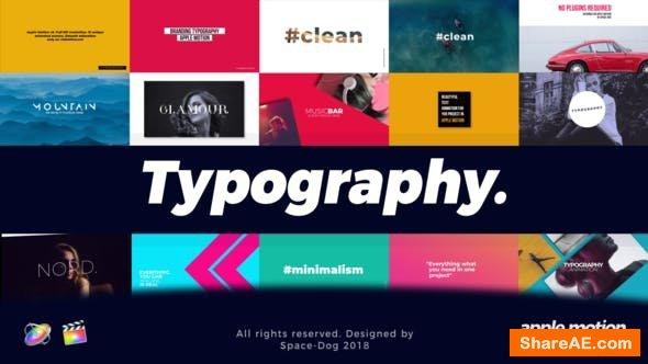 Videohive Modern Typography | Final Cut Pro