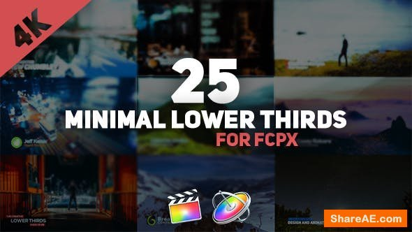 Videohive FCPX Minimal Lower Thirds Pack - Final Cut Pro