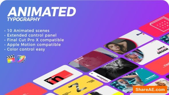 Videohive Animated Typography   FCPX or Apple Motion - Final Cut Pro
