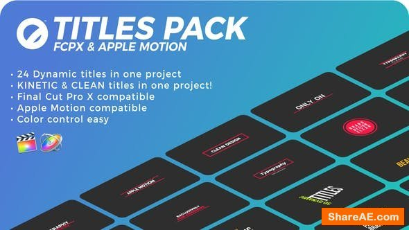Videohive Titles Pack   FCPX or Apple Motion - Final Cut Pro