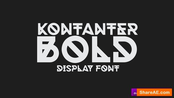 Videohive Kontanter Bold Animated Font