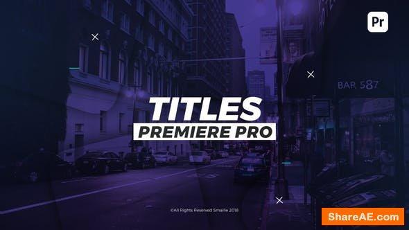 Videohive Dynamic Titles - Premiere Pro