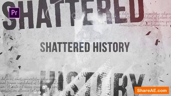 Videohive Shattered History - Premiere Pro