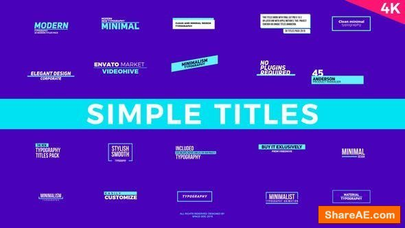 Videohive Simple Titles | FCPX or Apple Motion - Final Cut Pro