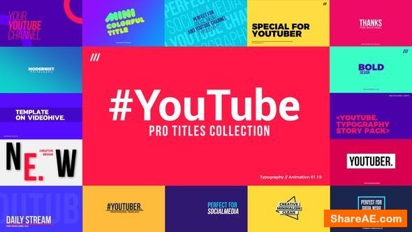 Videohive YouTube Titles Collection for Final Cut Pro X