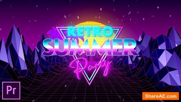 Videohive Retro Summer Party Opener - Premiere Pro