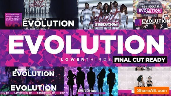 Videohive Evolution Lower-Thirds - Final Cut Pro