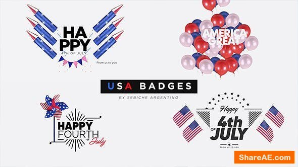 Videohive USA Badges - Final Cut Pro