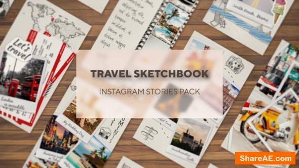 Videohive Traveler's Sketchbook - Instagram Stories Pack