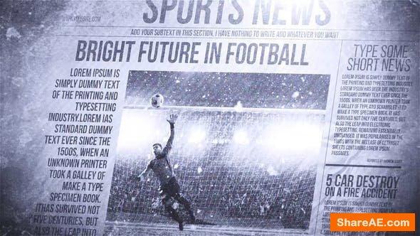 Videohive Newspaper Freeze Promo