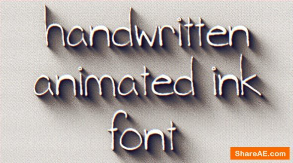 Videohive Animated Ink Font