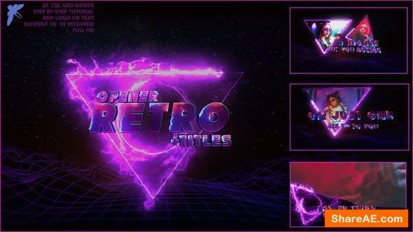Videohive 80s Retro Titles 3D