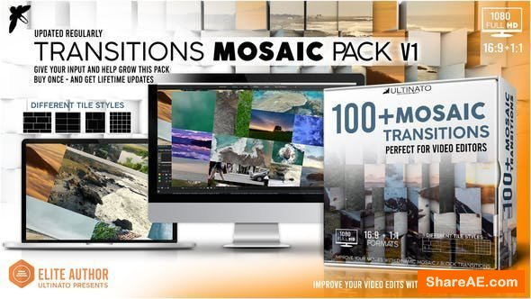 Videohive Transitions Mosiac Pack - Toolkit