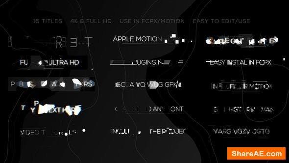 Videohive Glitch Minimal Titles - Final Cut Pro