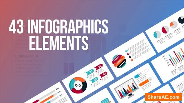 Videohive Infographics - 43 Elements