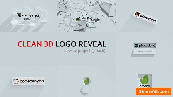 Videohive Clean 3d Logo Reveal