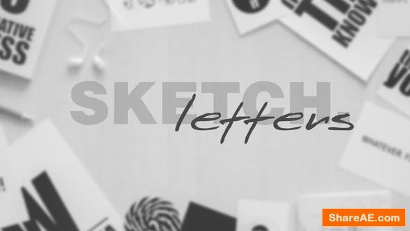 Videohive Sketch Letters