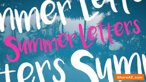 Videohive Summer Letters