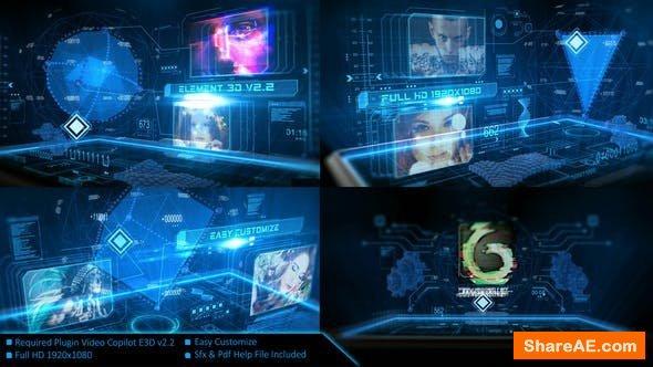 Videohive Digital Holographic Intro