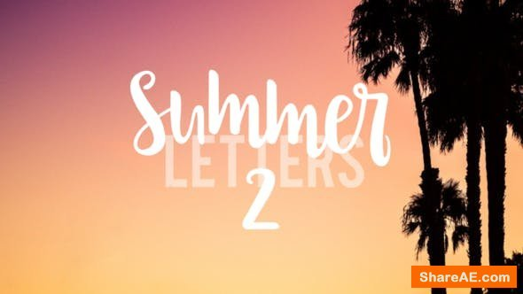 Videohive Summer Letters 2