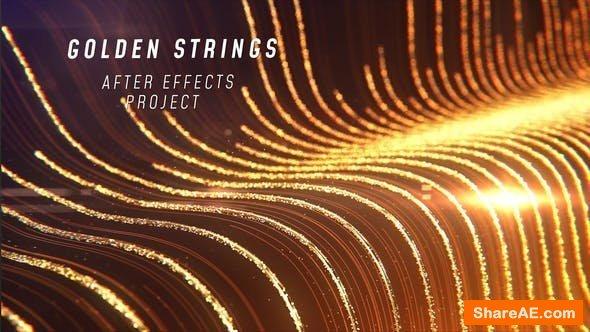 Videohive Golden Strings Logo