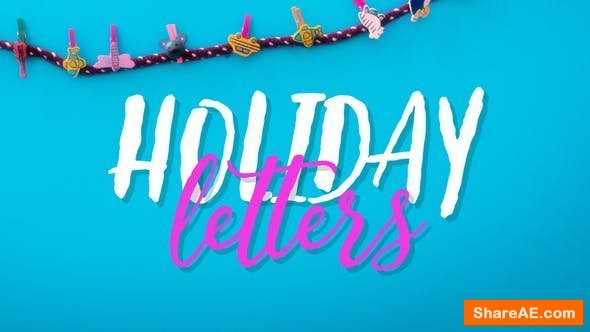 Videohive Holiday Letters