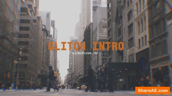 Videohive Urban Glitch Intro