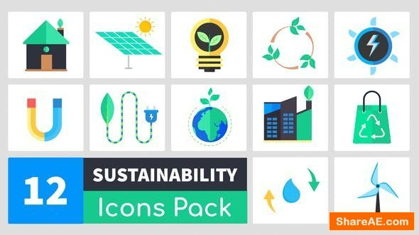Videohive Sustainability Icons Pack - Premiere Pro