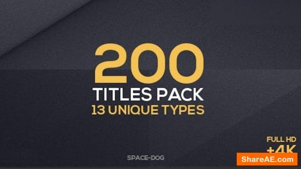 Videohive 200 Titles Collection | Premiere Pro