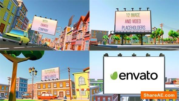 Videohive Billboard City